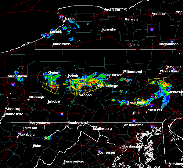 Radar Image for Severe Thunderstorms near Smicksburg, PA at 6/11/2015 6:47 PM EDT