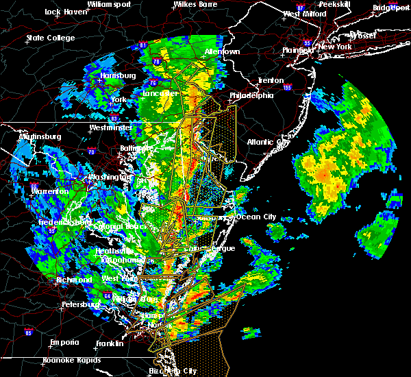 Radar Image for Severe Thunderstorms near Dover, DE at 4/26/2019 5:14 PM EDT