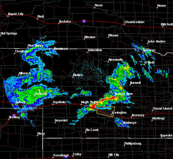 Radar Image for Severe Thunderstorms near Cozad, NE at 4/26/2019 8:50 PM CDT