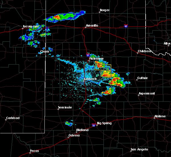 Radar Image for Severe Thunderstorms near Floydada, TX at 4/27/2019 5:01 PM CDT