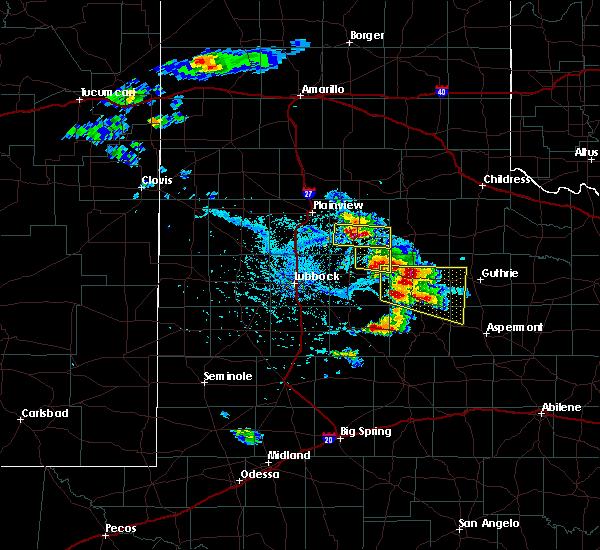 Radar Image for Severe Thunderstorms near Floydada, TX at 4/27/2019 5:07 PM CDT