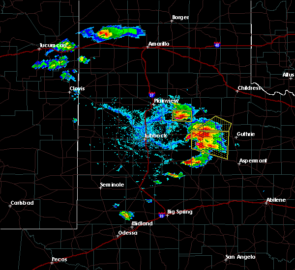 Radar Image for Severe Thunderstorms near Floydada, TX at 4/27/2019 5:22 PM CDT