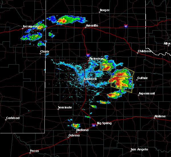 Radar Image for Severe Thunderstorms near Floydada, TX at 4/27/2019 5:29 PM CDT