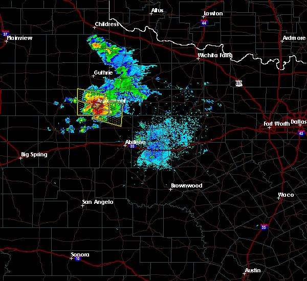 Radar Image for Severe Thunderstorms near Aspermont, TX at 4/27/2019 7:20 PM CDT