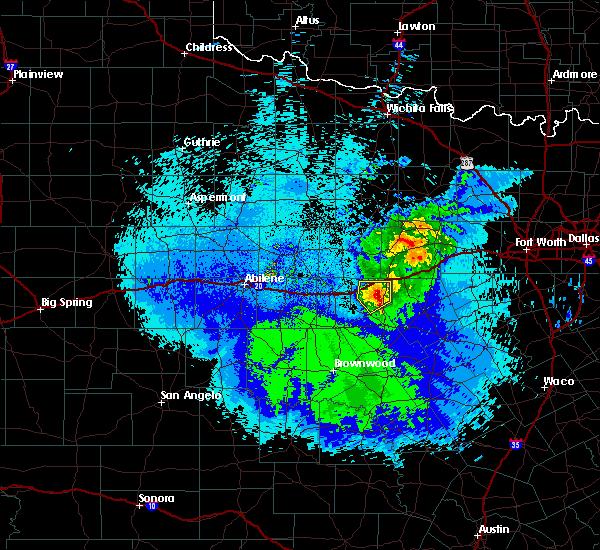 Radar Image for Severe Thunderstorms near Ranger, TX at 4/27/2019 10:15 PM CDT