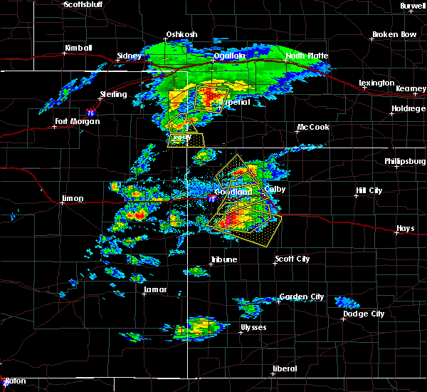 Radar Image for Severe Thunderstorms near Russell Springs, KS at 4/28/2019 5:21 PM CDT