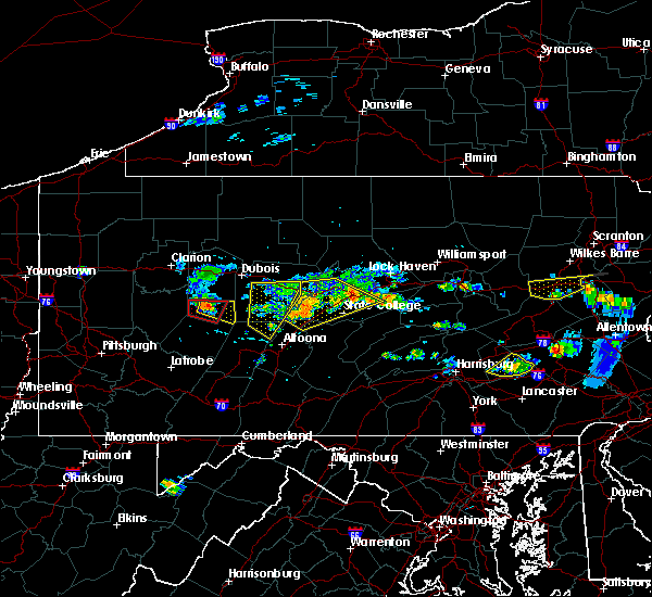 Radar Image for Severe Thunderstorms near Rossiter, PA at 6/11/2015 7:04 PM EDT