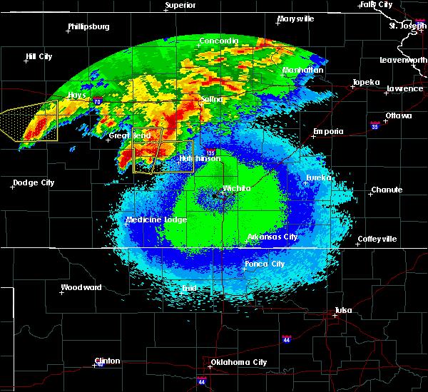 Radar Image for Severe Thunderstorms near Raymond, KS at 4/28/2019 11:52 PM CDT