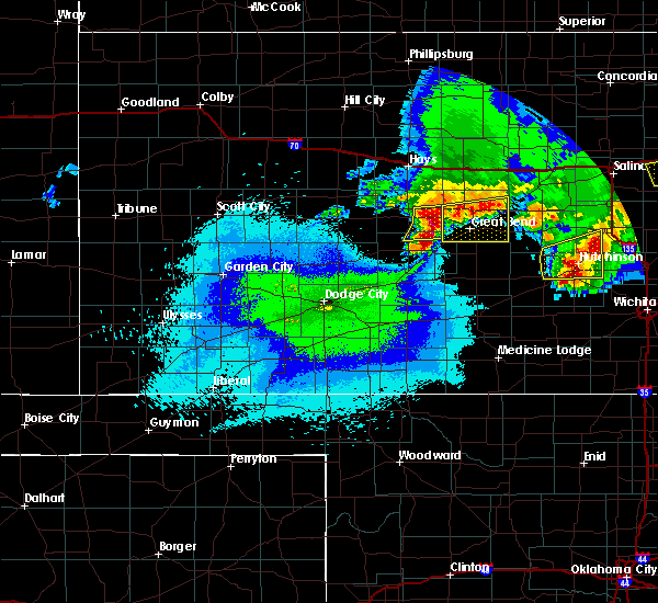 Radar Image for Severe Thunderstorms near Albert, KS at 4/29/2019 12:38 AM CDT