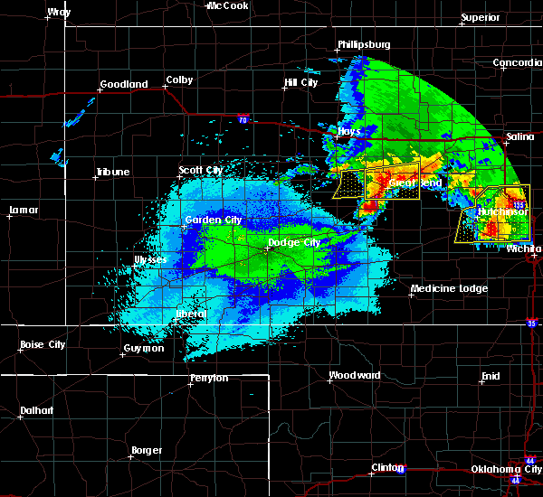 Radar Image for Severe Thunderstorms near Albert, KS at 4/29/2019 12:54 AM CDT