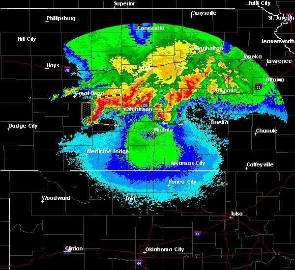 Radar Image for Severe Thunderstorms near Stafford, KS at 4/29/2019 1:39 AM CDT