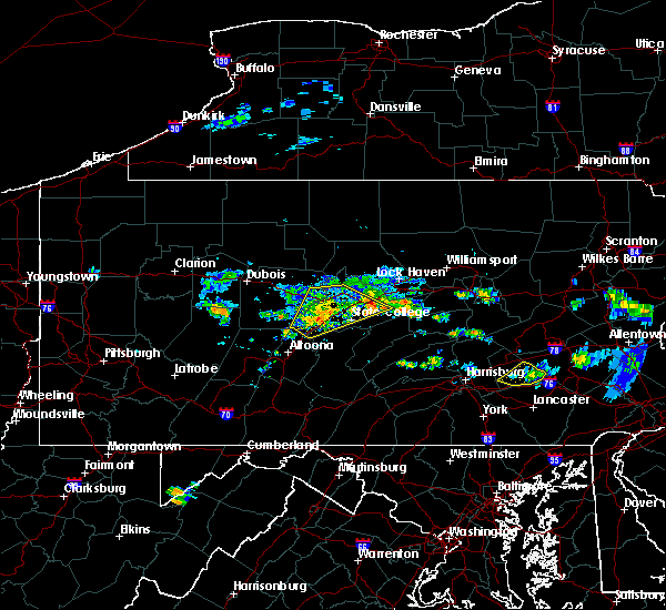 Radar Image for Severe Thunderstorms near Bellefonte, PA at 6/11/2015 7:16 PM EDT