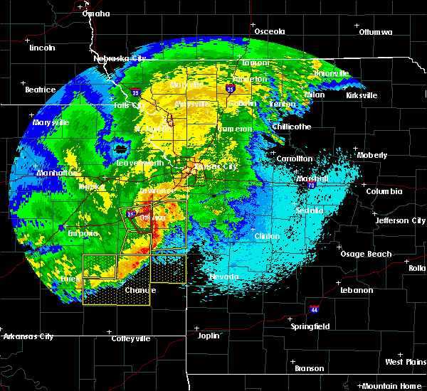 Radar Image for Severe Thunderstorms near Richmond, KS at 4/29/2019 3:56 AM CDT