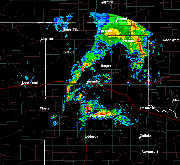 Radar Image for Severe Thunderstorms near Kress, TX at 4/30/2019 9:04 AM CDT