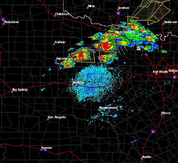 Radar Image for Severe Thunderstorms near Throckmorton, TX at 5/1/2019 3:01 PM CDT