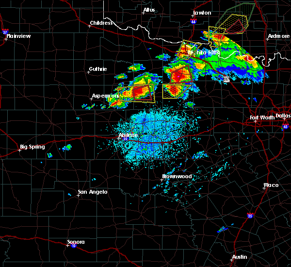 Radar Image for Severe Thunderstorms near Throckmorton, TX at 5/1/2019 3:20 PM CDT