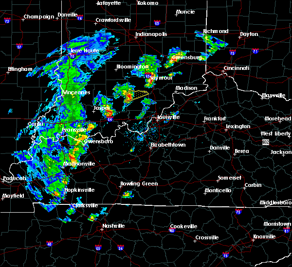 Radar Image for Severe Thunderstorms near Campbellsburg, IN at 5/1/2019 5:11 PM EDT