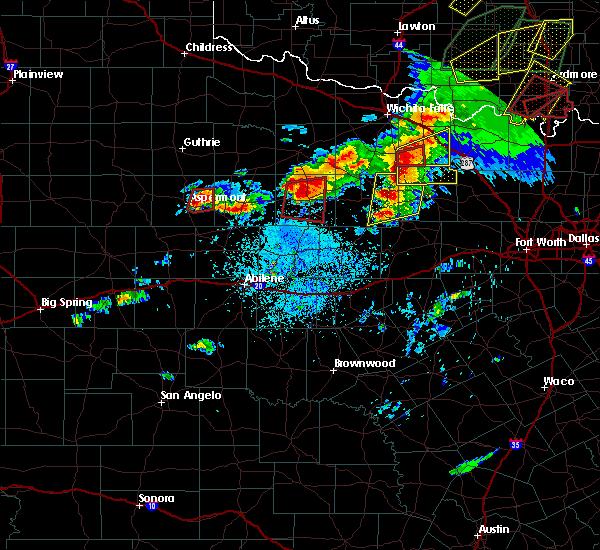 Radar Image for Severe Thunderstorms near Throckmorton, TX at 5/1/2019 4:24 PM CDT