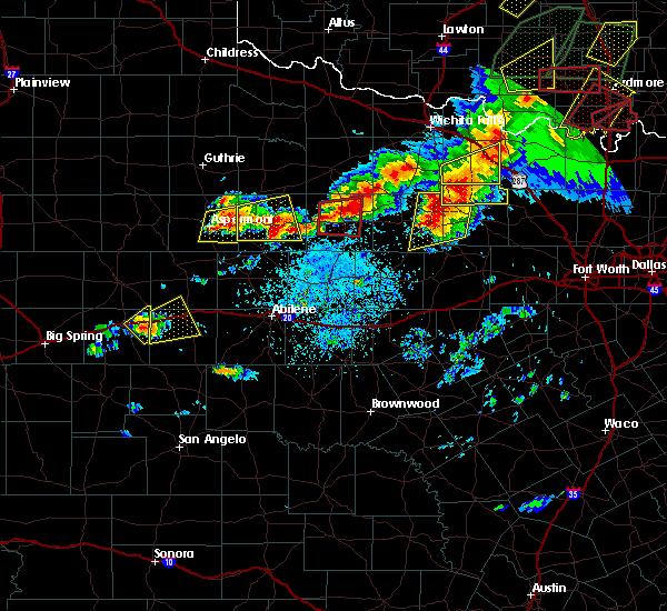 Radar Image for Severe Thunderstorms near Throckmorton, TX at 5/1/2019 4:36 PM CDT