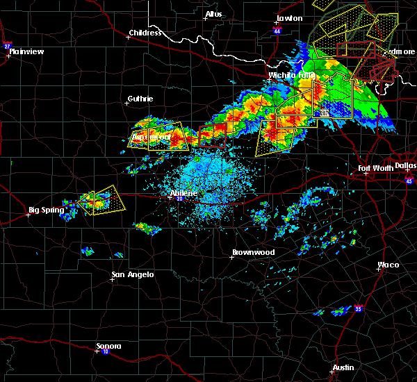 Radar Image for Severe Thunderstorms near Aspermont, TX at 5/1/2019 4:45 PM CDT