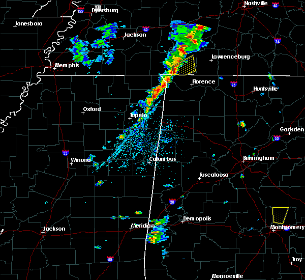 Radar Image for Severe Thunderstorms near Collinwood, TN at 5/1/2019 4:53 PM CDT