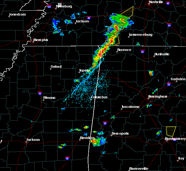 Radar Image for Severe Thunderstorms near Cherokee, AL at 5/1/2019 5:16 PM CDT