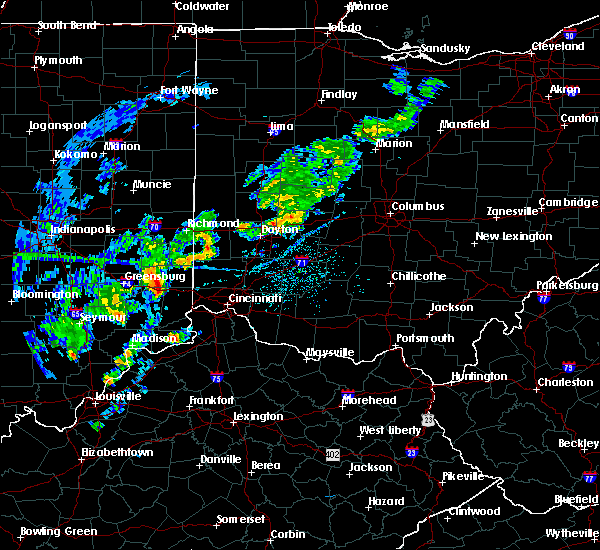 Radar Image for Severe Thunderstorms near Cincinnati, OH at 5/1/2019 6:54 PM EDT