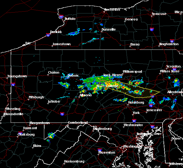 Radar Image for Severe Thunderstorms near Gordon, PA at 6/11/2015 7:38 PM EDT