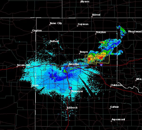 Radar Image for Severe Thunderstorms near Lefors, TX at 5/2/2019 1:01 AM CDT