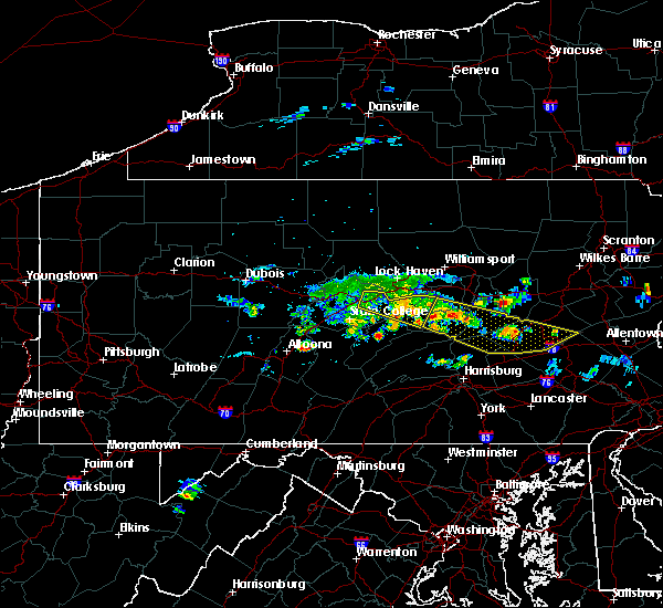 Radar Image for Severe Thunderstorms near Woodward, PA at 6/11/2015 7:46 PM EDT