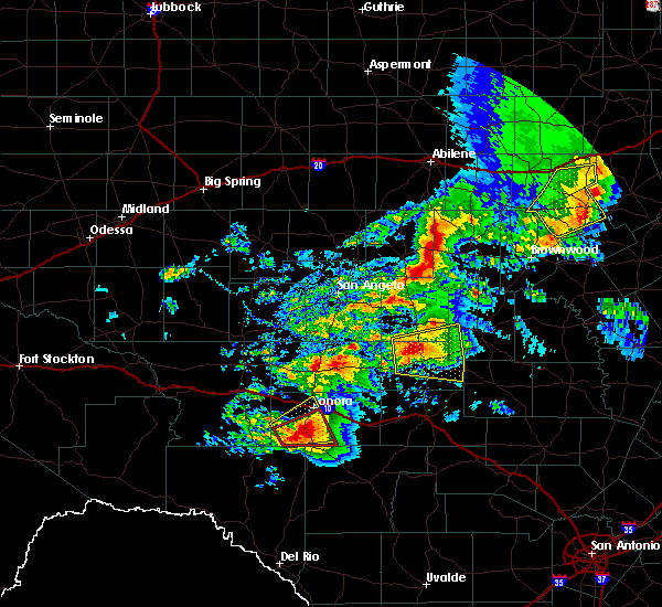 Radar Image for Severe Thunderstorms near Menard, TX at 5/2/2019 1:23 PM CDT