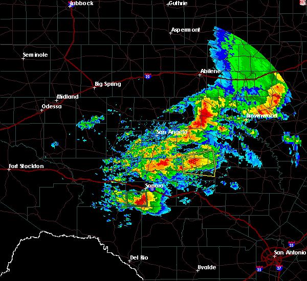 Radar Image for Severe Thunderstorms near Menard, TX at 5/2/2019 1:36 PM CDT
