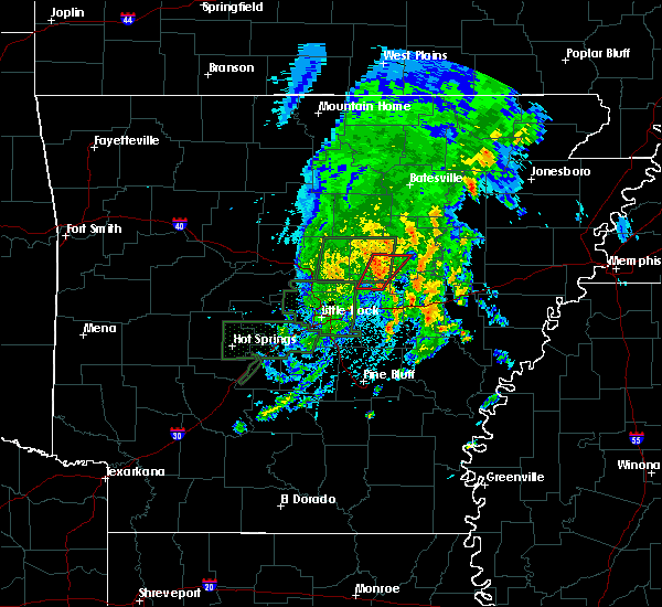 Radar Image for Severe Thunderstorms near Searcy, AR at 5/2/2019 2:25 PM CDT