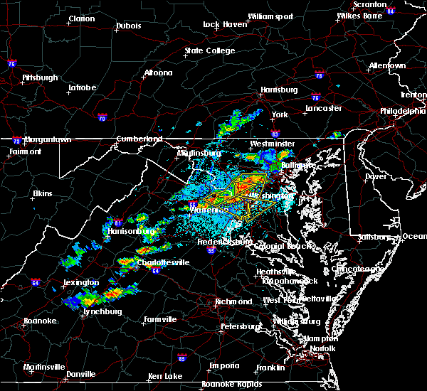 Radar Image for Severe Thunderstorms near Woodmore, MD at 5/2/2019 3:42 PM EDT