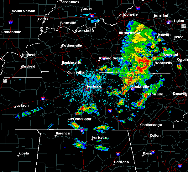 Radar Image for Severe Thunderstorms near Cookeville, TN at 5/2/2019 2:47 PM CDT