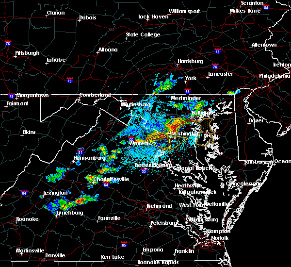 Radar Image for Severe Thunderstorms near Woodmore, MD at 5/2/2019 3:57 PM EDT