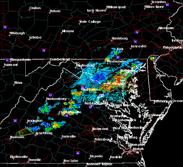 Radar Image for Severe Thunderstorms near Woodmore, MD at 5/2/2019 4:29 PM EDT