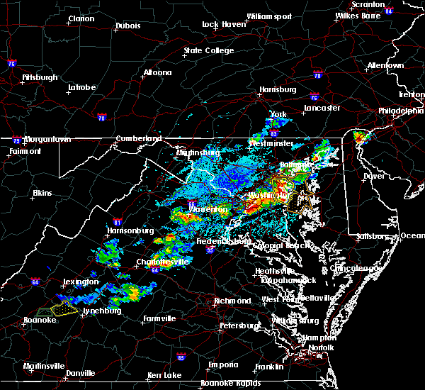 Radar Image for Severe Thunderstorms near Riva, MD at 5/2/2019 4:37 PM EDT