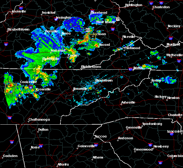 Radar Image for Severe Thunderstorms near Barbourville, KY at 5/2/2019 5:43 PM EDT