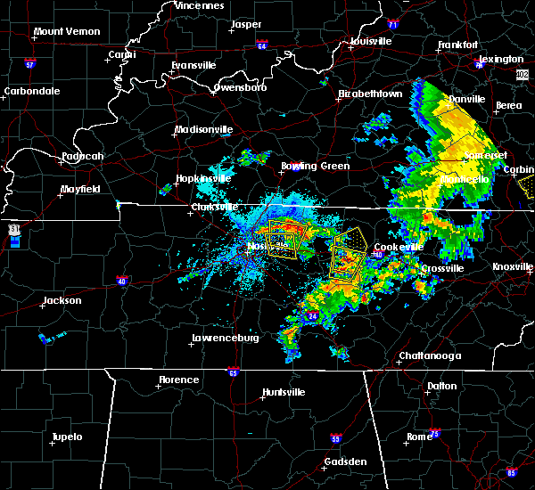 Radar Image for Severe Thunderstorms near Baxter, TN at 5/2/2019 4:45 PM CDT