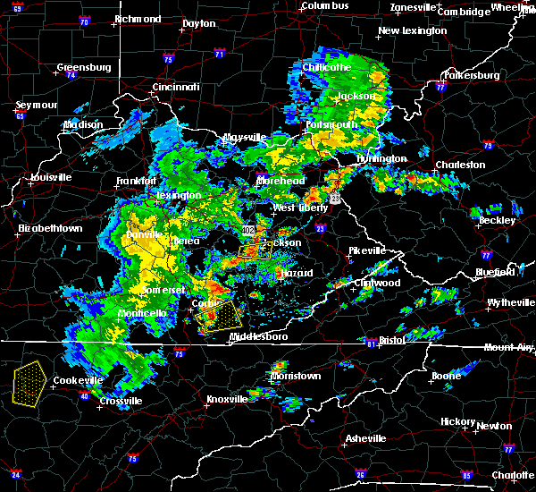 Radar Image for Severe Thunderstorms near Jackson, KY at 5/2/2019 5:56 PM EDT