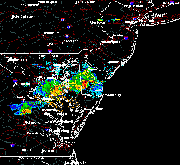Radar Image for Severe Thunderstorms near St. Leonard, MD at 5/2/2019 6:55 PM EDT