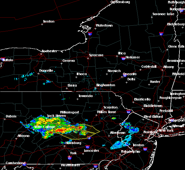 Radar Image for Severe Thunderstorms near Hometown, PA at 6/11/2015 8:11 PM EDT