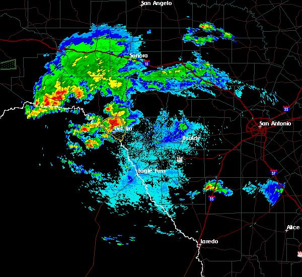 Radar Image for Severe Thunderstorms near Del Rio, TX at 5/2/2019 10:59 PM CDT