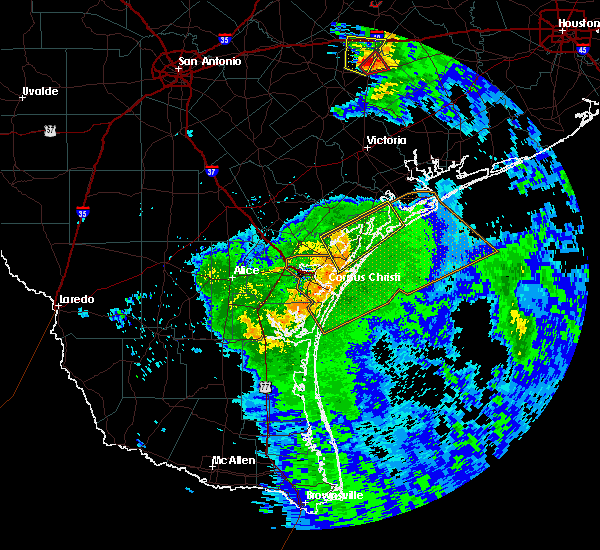 Radar Image for Severe Thunderstorms near Corpus Christi, TX at 5/3/2019 9:42 AM CDT