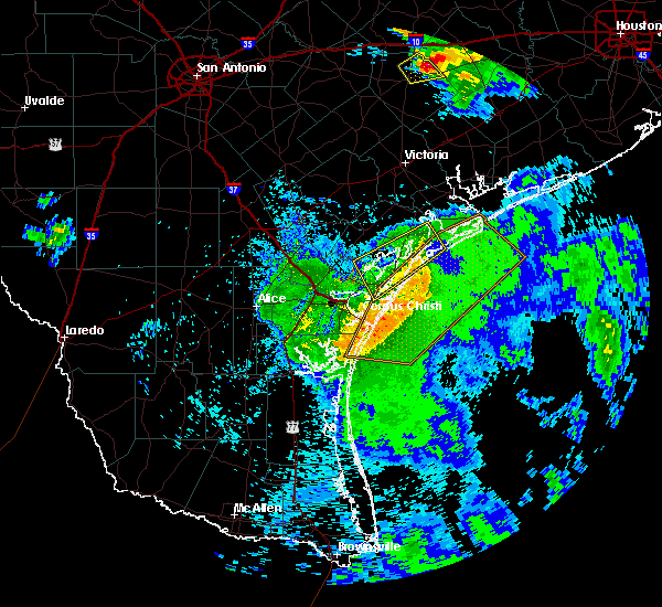 Radar Image for Severe Thunderstorms near Corpus Christi, TX at 5/3/2019 10:24 AM CDT