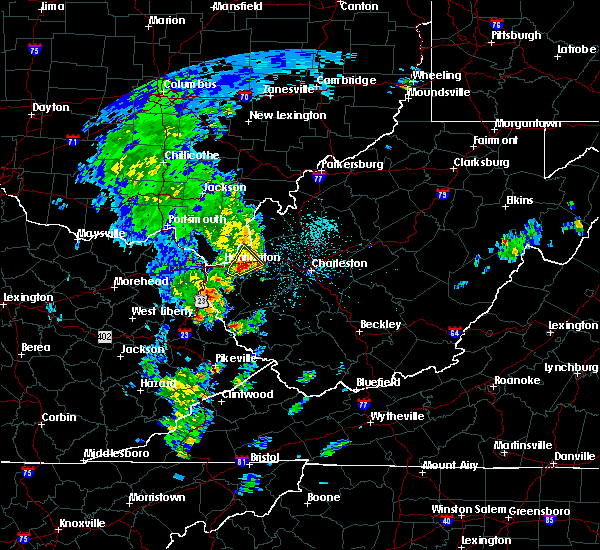 Radar Image for Severe Thunderstorms near Huntington, WV at 5/3/2019 1:26 PM EDT