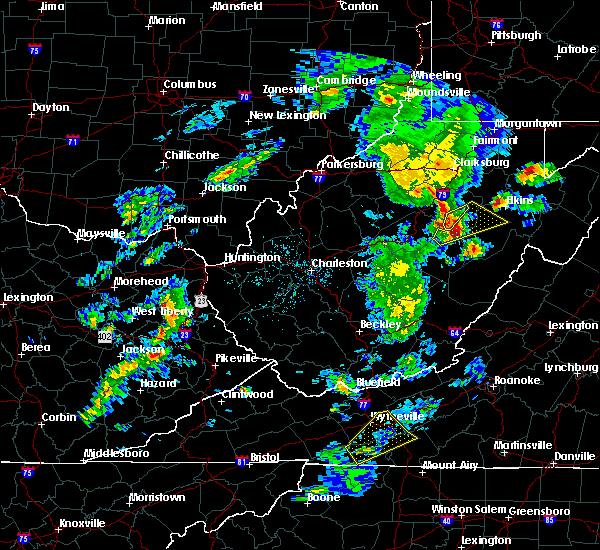 Radar Image for Severe Thunderstorms near Dailey, WV at 5/3/2019 4:39 PM EDT