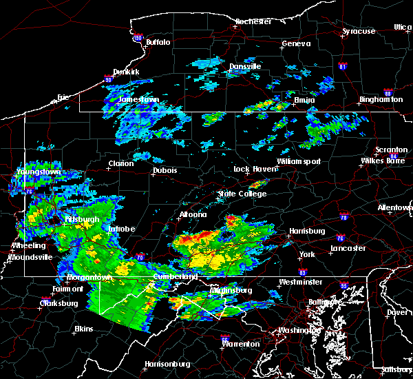 Radar Image for Severe Thunderstorms near Longfellow, PA at 5/3/2019 6:26 PM EDT