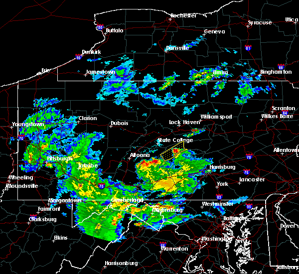 Radar Image for Severe Thunderstorms near Mill Creek, PA at 5/3/2019 6:54 PM EDT